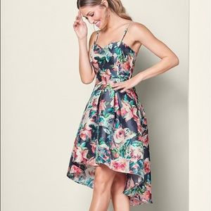 High Low sweetheart cut floral dress